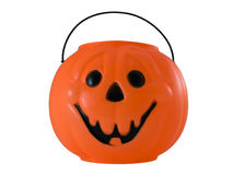 Halloween Pumpkin. Photo of a halloween pumpkin pail isolated on white Stock Photography