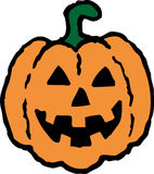 Halloween Pumpkin. A simple rendering of the traditional halloween pumpkin lantern. Can be used as an icon, a logo or as a decorative element Royalty Free Stock Image