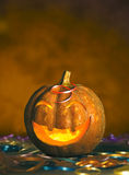 Halloween pumpkin. In party mood stock photo