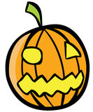 Halloween Pumpkin. Isolated in white vector image Stock Image
