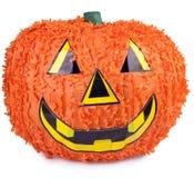Halloween pumpkin. Made from paper mache Stock Photo