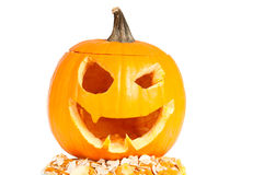 Halloween pumpkin. On a white background Royalty Free Stock Photos