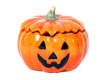 Halloween pumpkin. A halloween pumpkin with a smile (isolated Royalty Free Stock Images