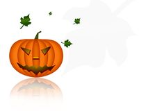 Halloween pumpkin. Haloween theme wallpaper with pumpkin and leafs Stock Image
