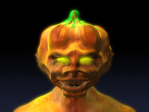 Halloween pumpkin. Scary halloween pumpkin, 3d generated picture stock illustration