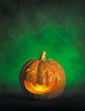 Halloween pumpkin. With a smiling face Stock Photography