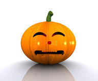Halloween Pumpkin - 3D Royalty Free Stock Photography