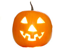 Halloween pumpkin. On white background Stock Image