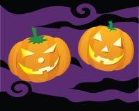 Halloween Pumpkin. Vecotr illustration -- Two lovely Halloween Pumpkins stock illustration