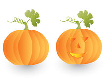 Halloween Pumpkin. Vector isolated image of Halloween Pumpkin on white background Royalty Free Stock Photography