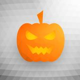 Halloween Pumpkin On Abstract Mosaic Background Royalty Free Stock Photo