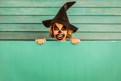 Halloween Pumpkin Autumn Holiday Concept Stock Images