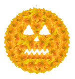 Halloween Pumpkin (Autumn Leaves) Stock Photos