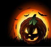 Halloween pumpkin background Stock Images