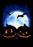 Halloween pumpkin background. Halloween pumpkin on dark background Royalty Free Stock Photos