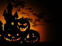 Halloween pumpkin background. Halloween pumpkin on dark background Stock Photography