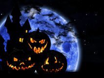 Halloween pumpkin background. Halloween pumpkin on dark background Stock Photos