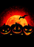 Halloween pumpkin background. Halloween pumpkin on dark background Stock Photo