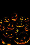 Halloween pumpkin background. Halloween pumpkin on dark background Royalty Free Stock Images
