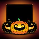 Halloween pumpkin background. Frame and border Royalty Free Stock Image