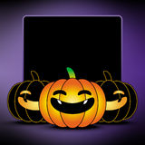 Halloween pumpkin background. Frame and border Royalty Free Stock Photo