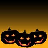 Halloween pumpkin background vector. Night Royalty Free Stock Images