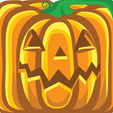 Halloween pumpkin background.Vector orange illustr Royalty Free Stock Images
