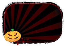 Halloween pumpkin banner Stock Images
