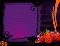 Halloween pumpkin banner Royalty Free Stock Photos