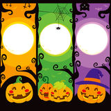 Halloween Pumpkin Banners Royalty Free Stock Photography