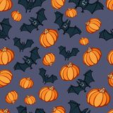 Halloween Pumpkin Bat Party Pattern Royalty Free Stock Images