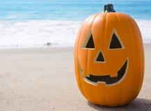 Halloween pumpkin on the beach Stock Photography