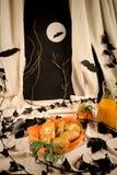 Halloween  pumpkin biscuits Royalty Free Stock Photos