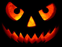 Halloween pumpkin on black Stock Photos
