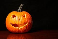 Halloween pumpkin on black Stock Photography