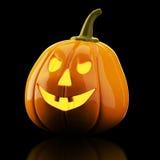 Halloween pumpkin on black background Royalty Free Stock Photography