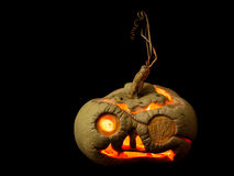 Halloween pumpkin on black Royalty Free Stock Photo