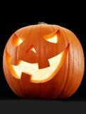 Halloween pumpkin on black Royalty Free Stock Photography