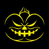 Halloween pumpkin on black. Stock Photos