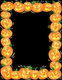 Halloween Pumpkin Border Stock Image