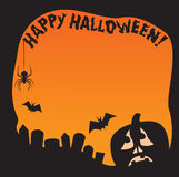 Halloween Pumpkin Border Stock Photography