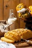 Halloween Pumpkin Bread Royalty Free Stock Photography