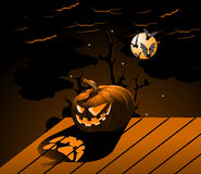 Halloween Pumpkin with burning. Eyes Stock Illustration