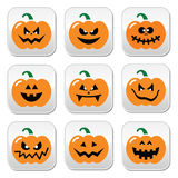 Halloween pumpkin  buttons set Royalty Free Stock Images