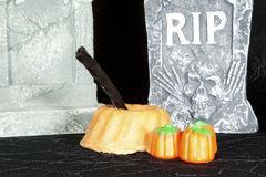 Halloween Pumpkin Cake Stock Photography