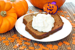 Halloween Pumpkin Cake Stock Photo