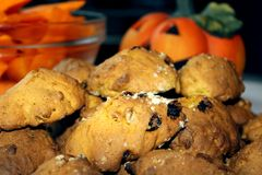 Halloween pumpkin cakes Stock Images