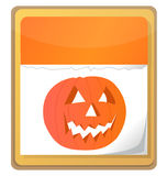 Halloween pumpkin calendar Royalty Free Stock Photos