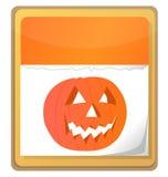 Halloween pumpkin calendar. Icon isolated on white background Royalty Free Stock Photos