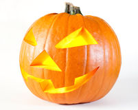 Halloween pumpkin with candle. Scary Jack O'Lantern halloween pumpkin with candle light inside Stock Image